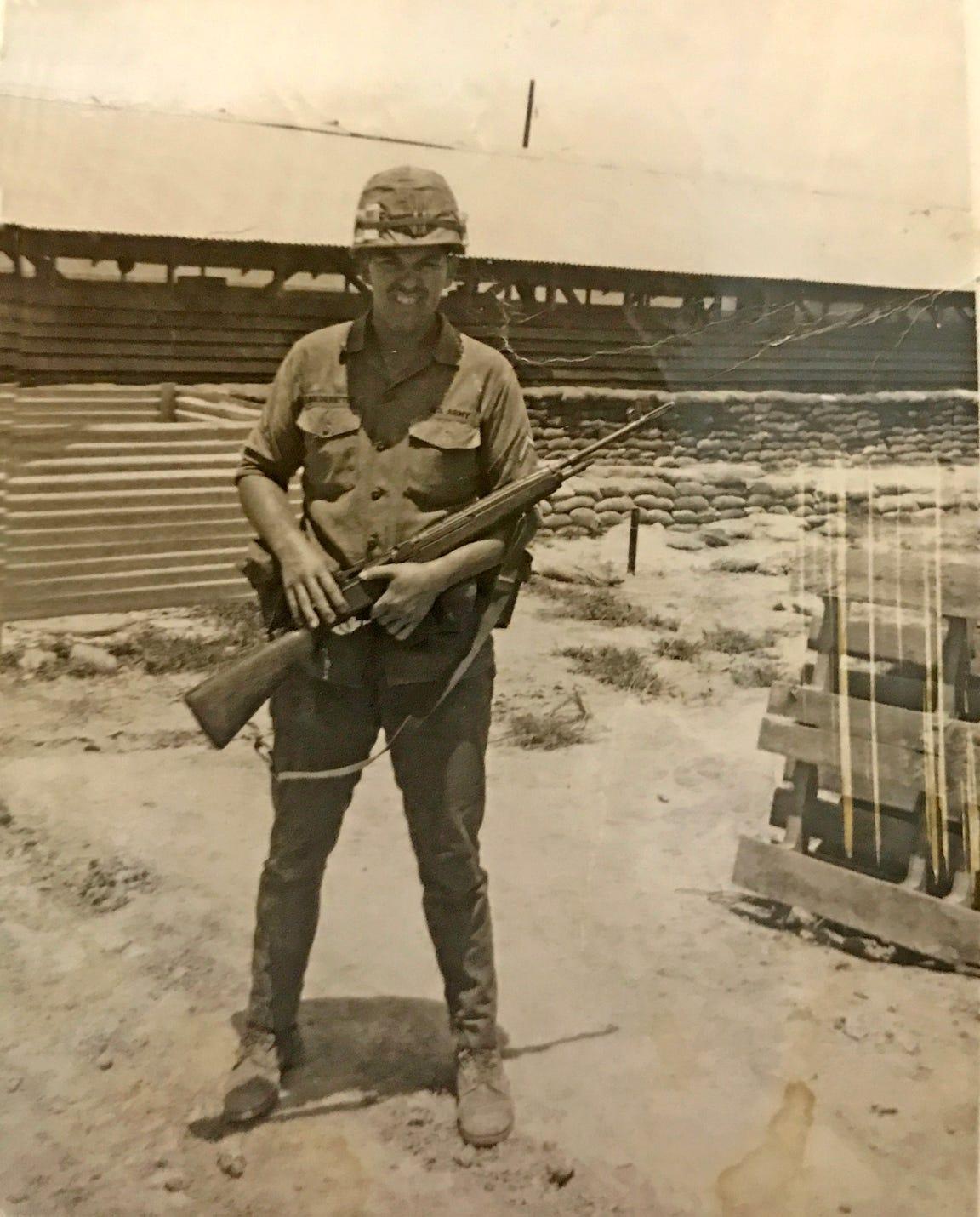 Lloyd Niederriter in Vietnam near Cambodia.
