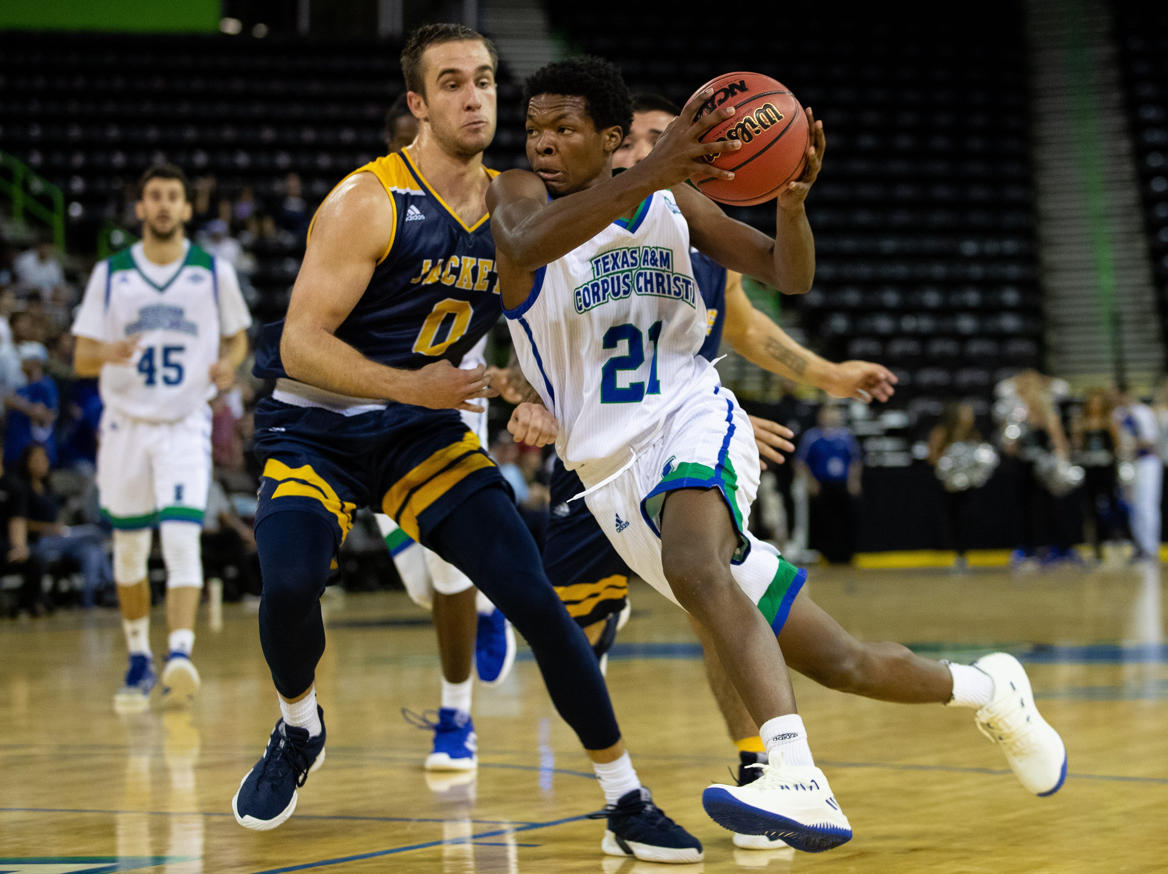 Islanders defeat Howard Payne 61-34 at the American Bank Center on Wednesday, Nov. 7, 2018.