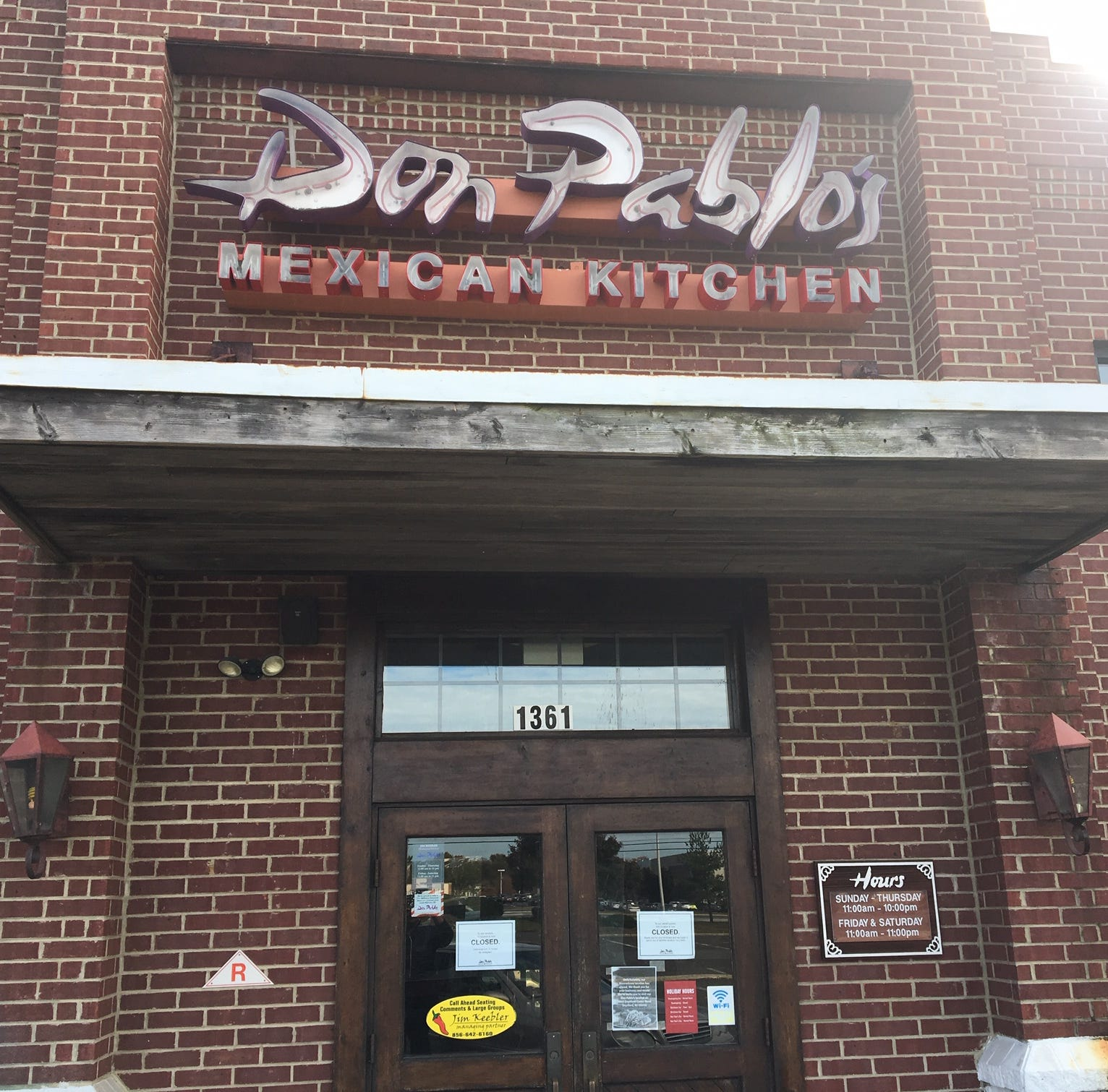 Don Pablo's in Moorestown has closed its doors for good