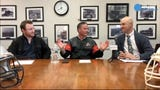 Reporters Mark Trible, Josh Friedman and special guest Tim McAneney and Clyde Folsom review the 1st round of the playoffs , look ahead to the 2nd round and field questions from viewers. The show runs on facebook.com/sjgridirongang every Wednesday at 7 p.m.