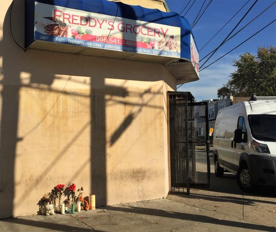 A memorial marks the site where Jovany Torres, 27, of Camden was fatally shot on Oct. 6.