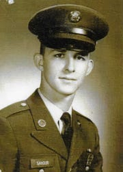 Samuel Saxour Jr.,in 1969, as a first sergeant in the Army stationed in Vietnam, Panama, Colombia, and South Korea who served his country for 33 years. He earned the Purple Heart.