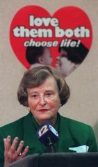 """Barbara Willke, co-founder of Cincinnati Right to Life, discusses the """"Love Them Both"""" campaign."""
