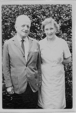 Ronald Ralph Pyne, whom his grandson calls Lolo, and his wife Evelyn Sherwood Pyne in 1968 after they moved to Fort Thomas, Kentucky, from Washington D.C.