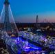 More than 5 million lights adorn the 364-acre amusement park.