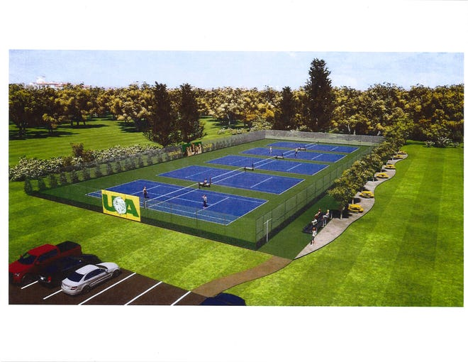 Ursuline Academy wants to build a tennis complex (see rendering) and a stadium on its Blue Ash campus.