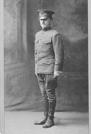 Lolo in uniform in 1918.