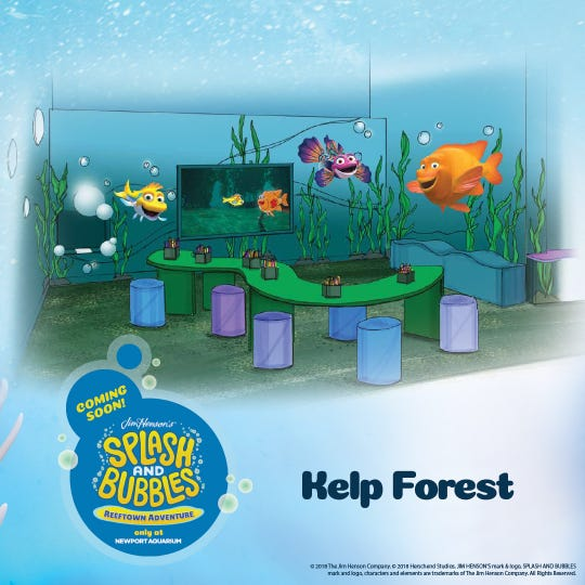 The Kelp Forest at Newport Aquarium's new Reeftown Adventure