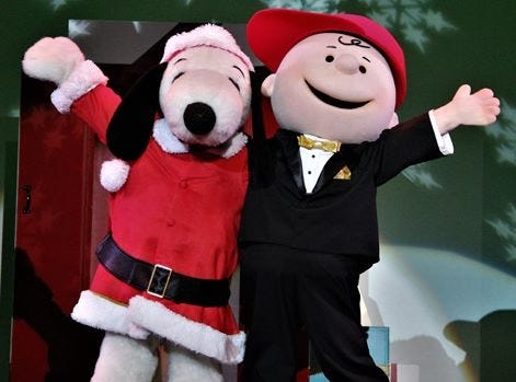 Meet Charlie Brown, Snoopy and the Peanuts Gang at WinterFest.