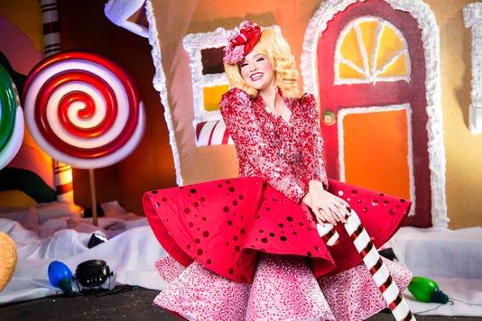 Winterfest Candy Cane Girl