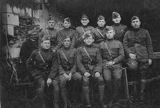 Uniformed officers of the 48th Coast Artillery Corps.