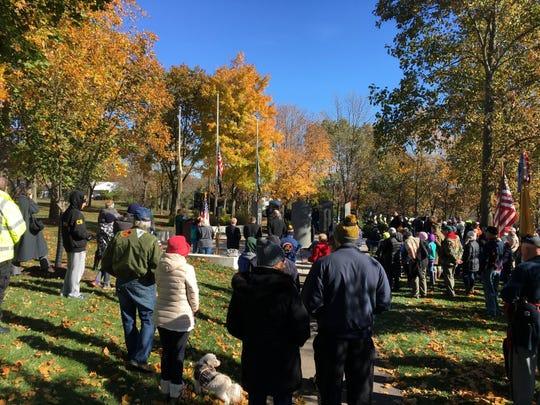 Scene from the 2017 Montgomery Veterans Memorial Day Observance.