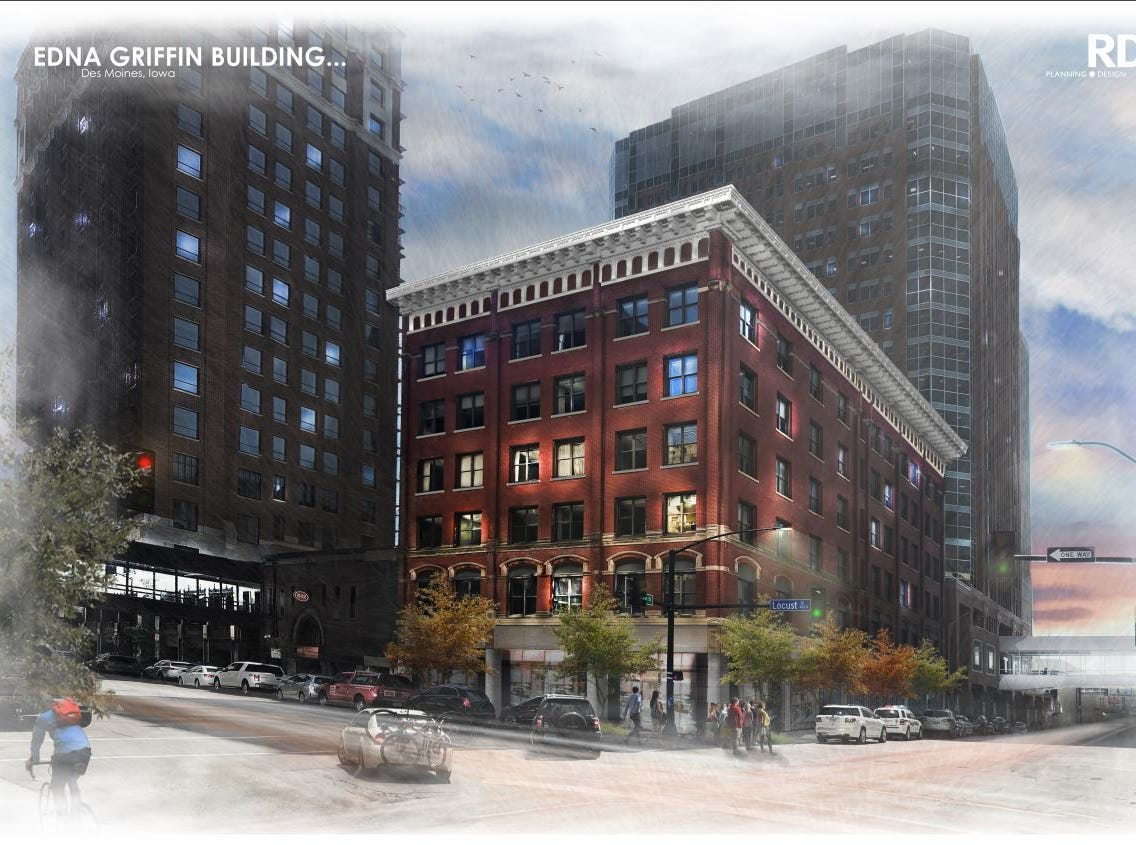 8. The Griffin Building will undergo a historic rehab into apartments. There will be some sort of dedication to Edna M. Griffin, a civil rights pioneer.