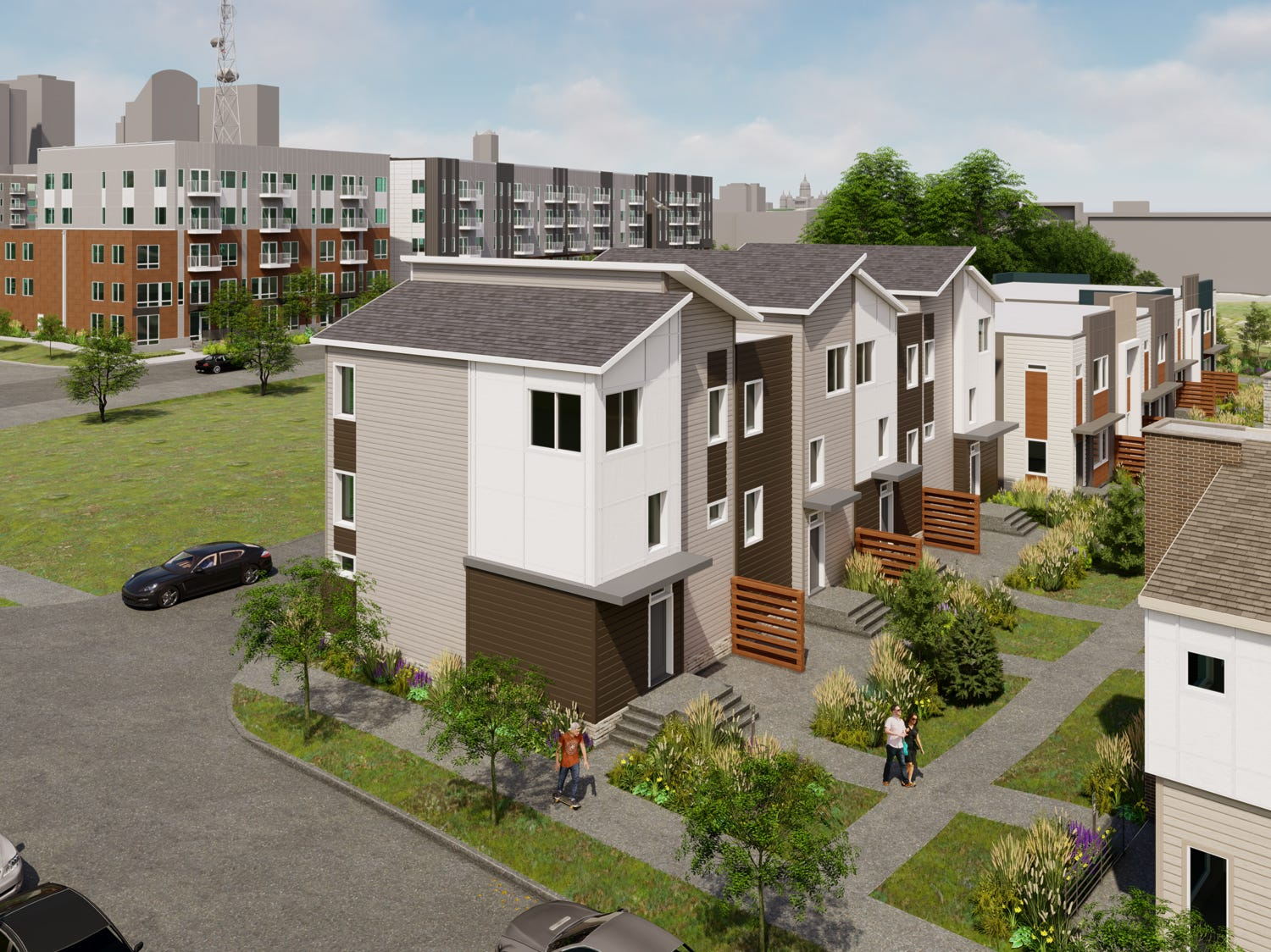 5. The first tenants should be moving into Gray's Station townhomes and apartments next year.