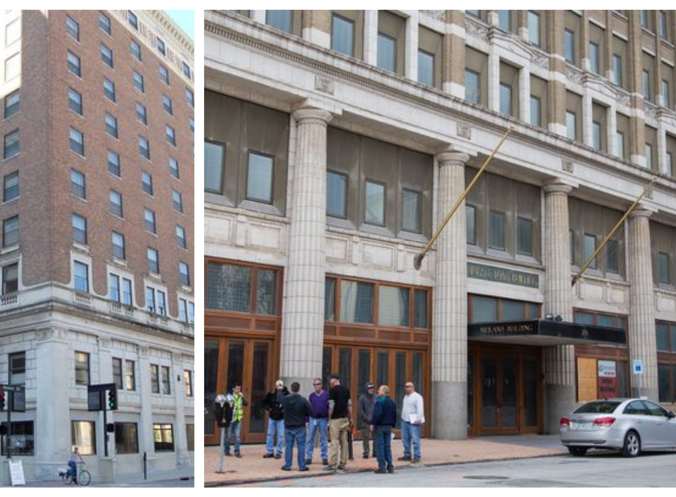 9. High-end boutique hotels are expected to open downtown in 2019. Hotel Fort Des Moines (left) and the Midland Building (right) are both undergoing historic conversions.