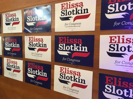 Deer Creek Athletic Club had its walls papered with campaign signs prior to an Election night party Nov. 6, 2018.