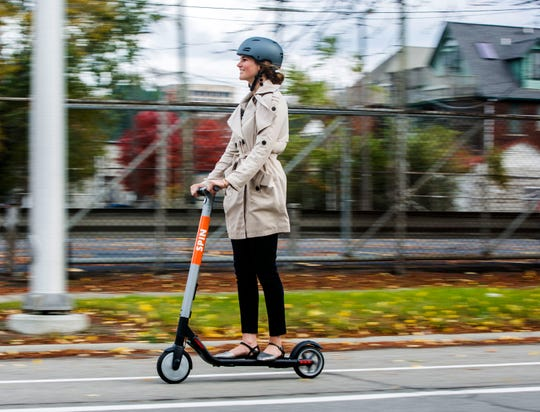 Ford Motor Co. buys Spin, an electric scooter company, for more than $40 million.