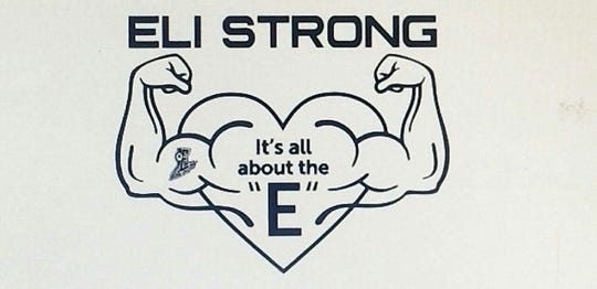 "This logo was created by ""Friends of Eli"" and has appeared on T-shirts sold to help raise money to cover medical costs for Eli Thomas."