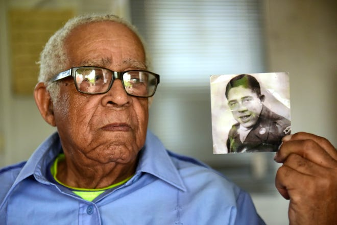 """Robert C. Jones, 86, of Fremont, said he was drafted by the Army during the Korean War but an armistice was signed before he was sent to the front. """"I was on my way, but I didn't get sent there,"""" he said."""