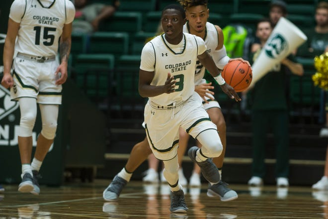CSU freshman Kendle Moore has started at guard in each of the Rams' first two games, scoring a game-high 26 in his first career college game.