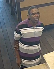 One of two men who allegedly used distraction techniques to make off with $150, and an order of fries, from a Port Charlotte restaurant Monday.