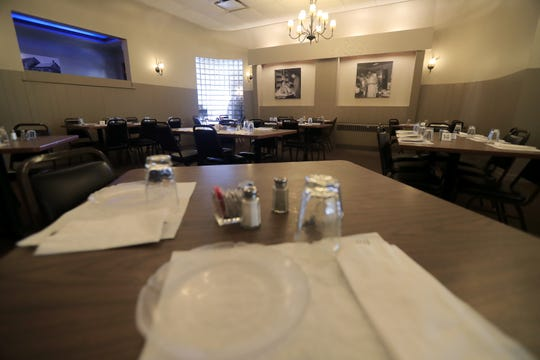 The dining room at Van Abel's supper club is shown on Thursday, October 25, 2018 in Hollandtown, Wis.
