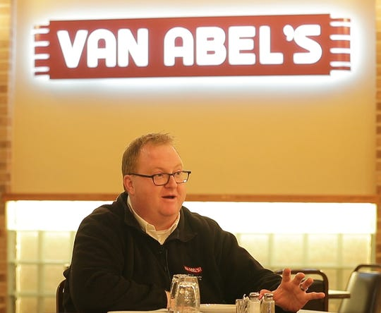 General manager Chris Coenen talks about the history of Van Abel's supper club on Thursday, October 25, 2018 in Hollandtown, Wis.