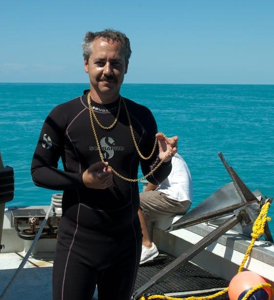 Joe With Treasure From The Santa Margarita