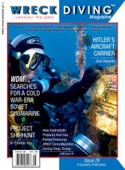The cover of an edition of Wreck Diving Magazine.