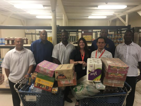 Prince Hall Masonic Family, District 8 keeps on giving. Members of Marianas Travelers Lodge #49 and Jerome Lipscomb Consistory #110 donated two baskets of dried goods for Typhoon Mangkhut relief to the local Salvation Army.