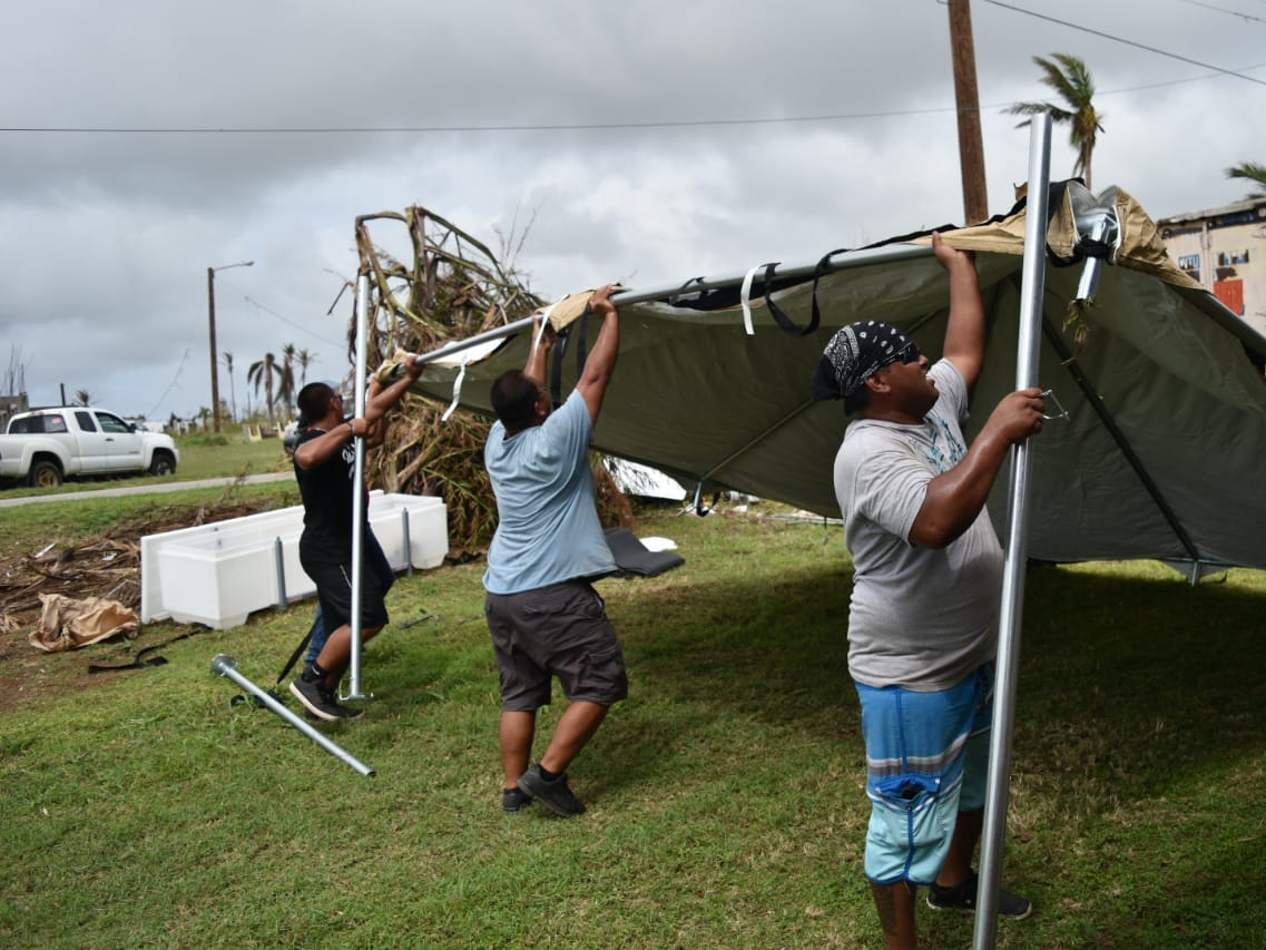 Tinian mayor's office helps with recovery efforts after Super Typhoon Yutu.