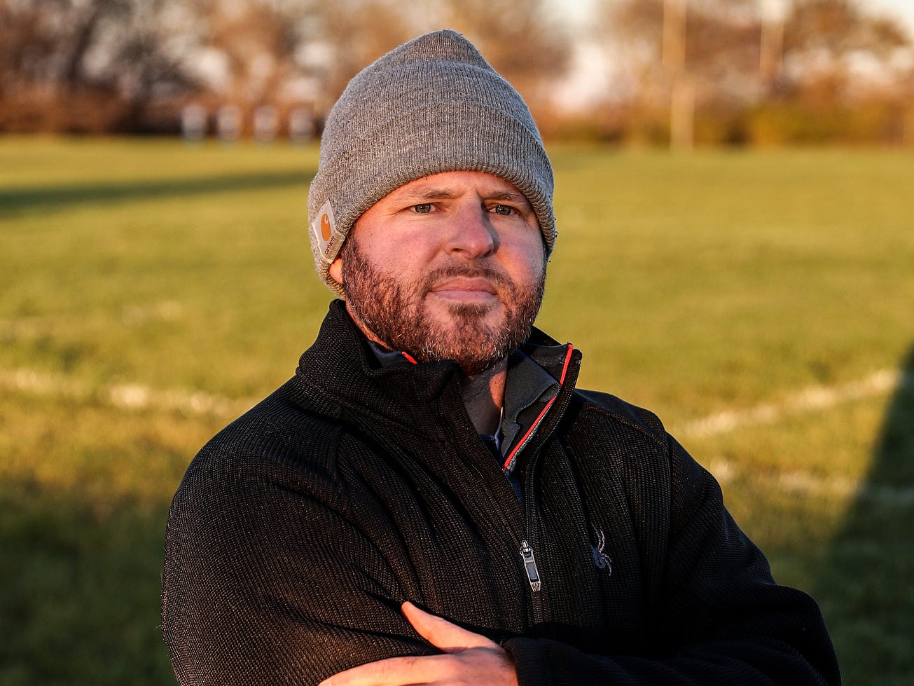 Head coach Justin Pelley, son of former Speedway coach and Indiana Hall-of-Famer Denny Pelley, seen at Western Boone Junior-Senior High School in Thornton, Ind., Wednesday, Nov. 7, 2018. His father Denny is a defensive coach for the team.