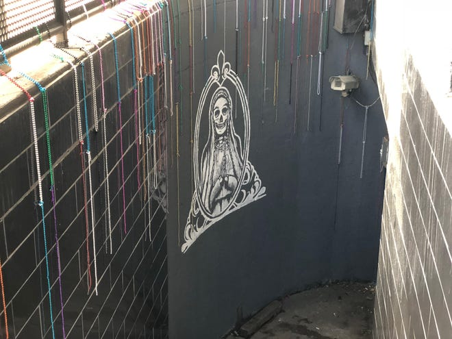 The entrance leading to The Patron Saint voodoo bar at 250 S. Meridian St.