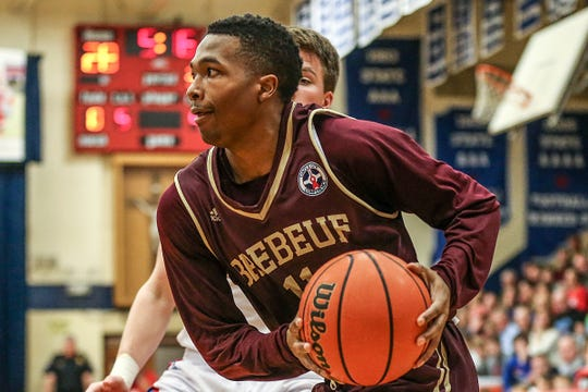 Former Brebeuf Jesuit guard Myja White is one of six Indiana products on the Redhawks roster.