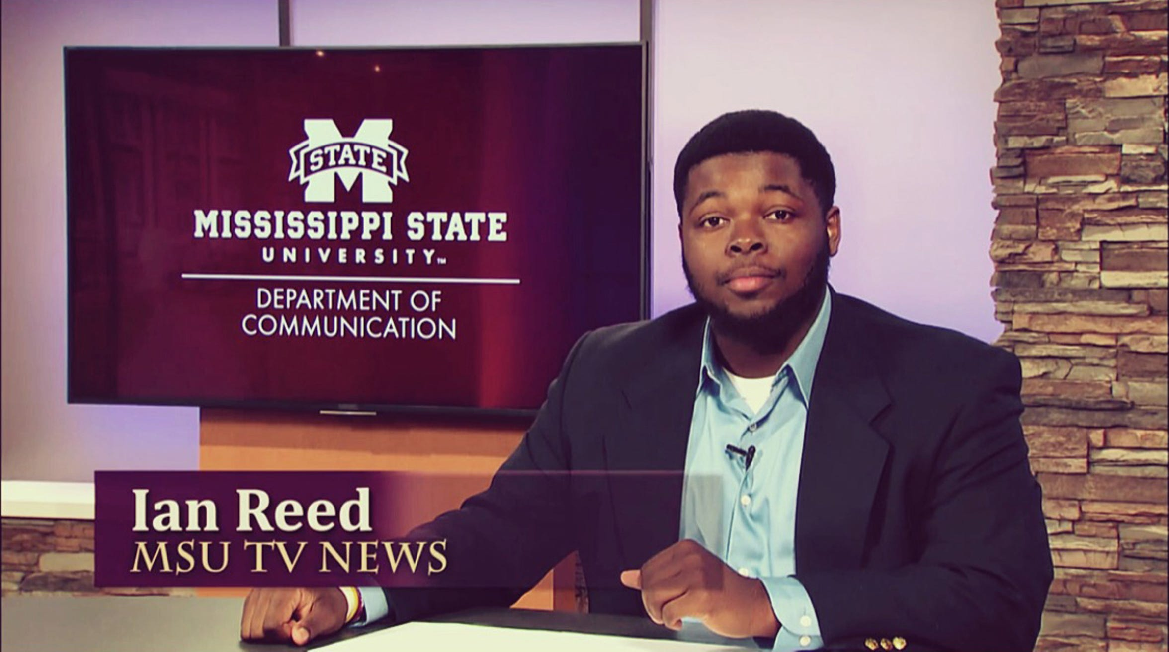 Ian Reed works in the Mississippi State University Television Center. Reed graduated from Mississippi State in December 2016.