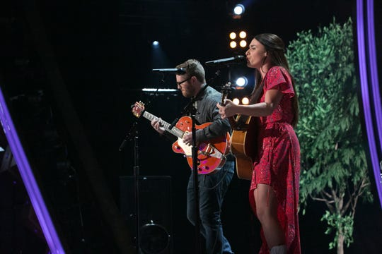 "East Tennessee's The Young Fables, composed of Laurel Wright and Wes Lunsford, perform on the new USA Network reality show, ""Real Country."""