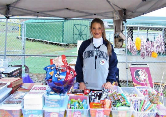 Farragut High School Junior Varsity cheerleader Raelee Scarbrough raised money for St. Jude Children's Research Hospital and classmate Mason Motley by organizing this snack stand at the FHS vs. HVA game on Oct. 26. Mason is undergoing treatment for cancer.