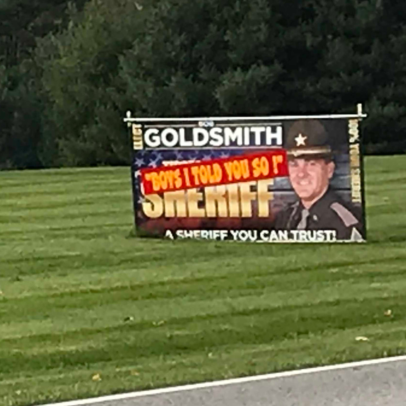 New Tippecanoe County sheriff races to take down 'gloating' campaign sign