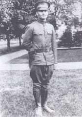 Harry Spring, a Purdue University alumnus, kept a diary during World War I, which has been recently published by Purdue University Press. Here, 2nd Lt. Spring poses in full uniform before departing for the battlefields in France and Belgium.