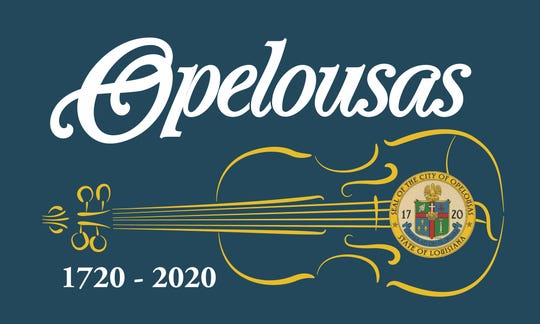 A new flag with a tricentennial logowill be sold to commemorate the founding of Opelousas 300 years ago.