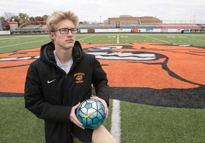 Brighton's Charlie Sharp is Livingston County Player of the Year after scoring 28 goals and eight assists.