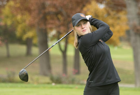 Brighton senior Annie Pietila is a three-time all-stater who played in four state golf tournaments.