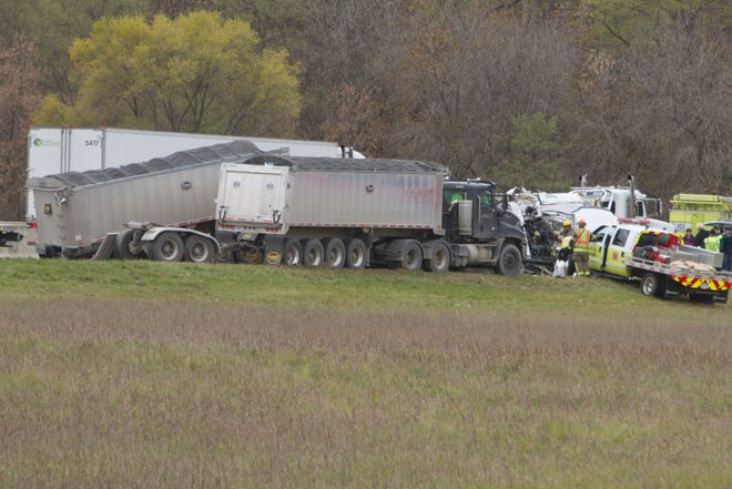 One man was killed in a crash on westbound Interstate-96 west of Kent Lake Rd. in Oakland County's Lyon Township Thursday, Nov. 8, 2018.