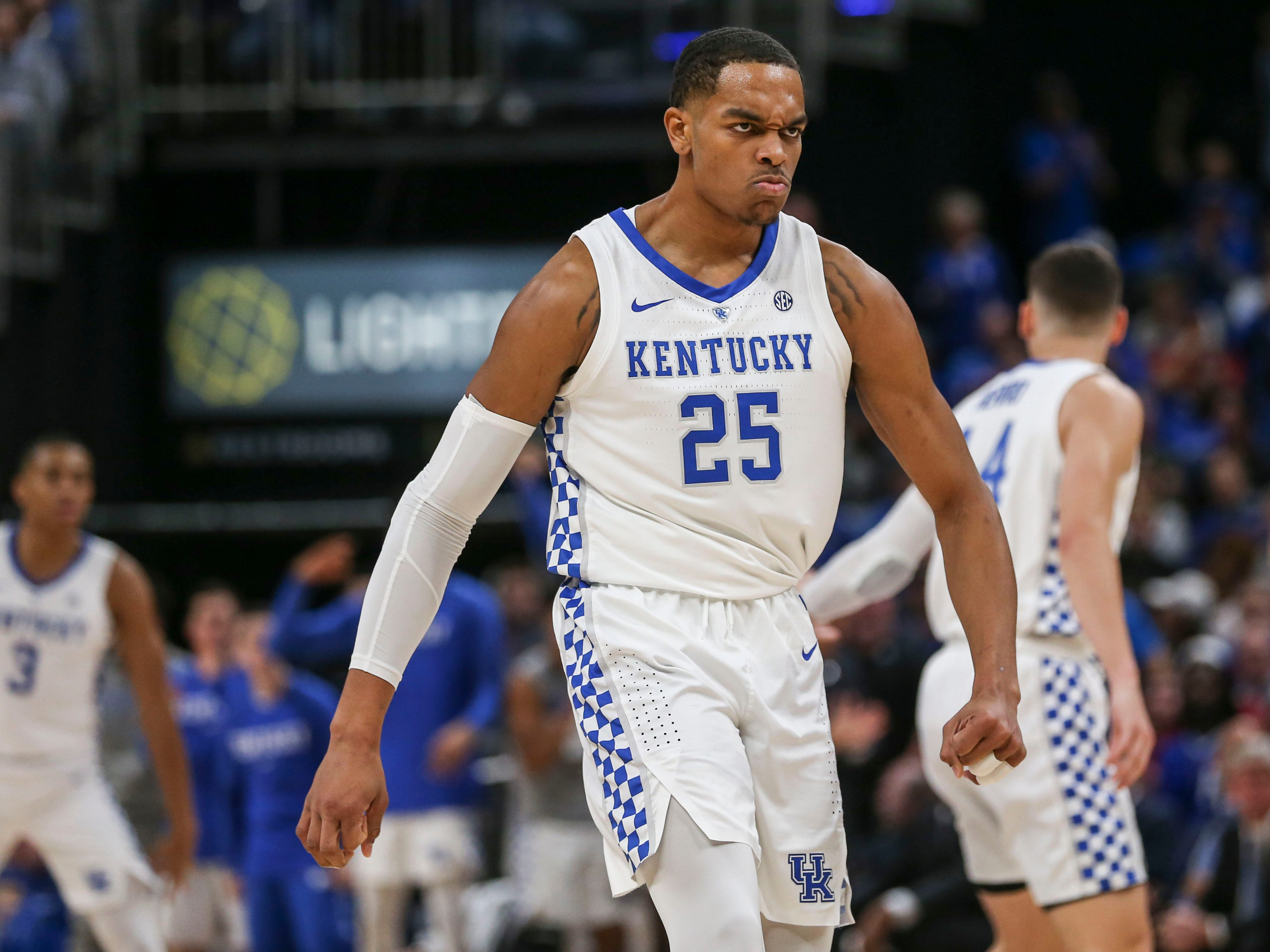 Kentucky's PJ Washington's look of determination was evident early in the game against Duke Nov. 6, 2018. He finished the game with eight points and two rebounds.