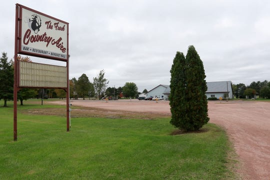 A sign in front of The Fresh Country Aire restaurant Tuesday, Oct. 2, 2018, in the Marathon County town of Day.