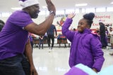 FedEx, Grizzlies and Operation Warm Team Up to bring coats to Hawkins Mill Elementary students