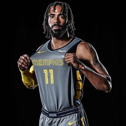 8e3862d51 Grizzlies unveil new city edition uniforms for 76ers game.