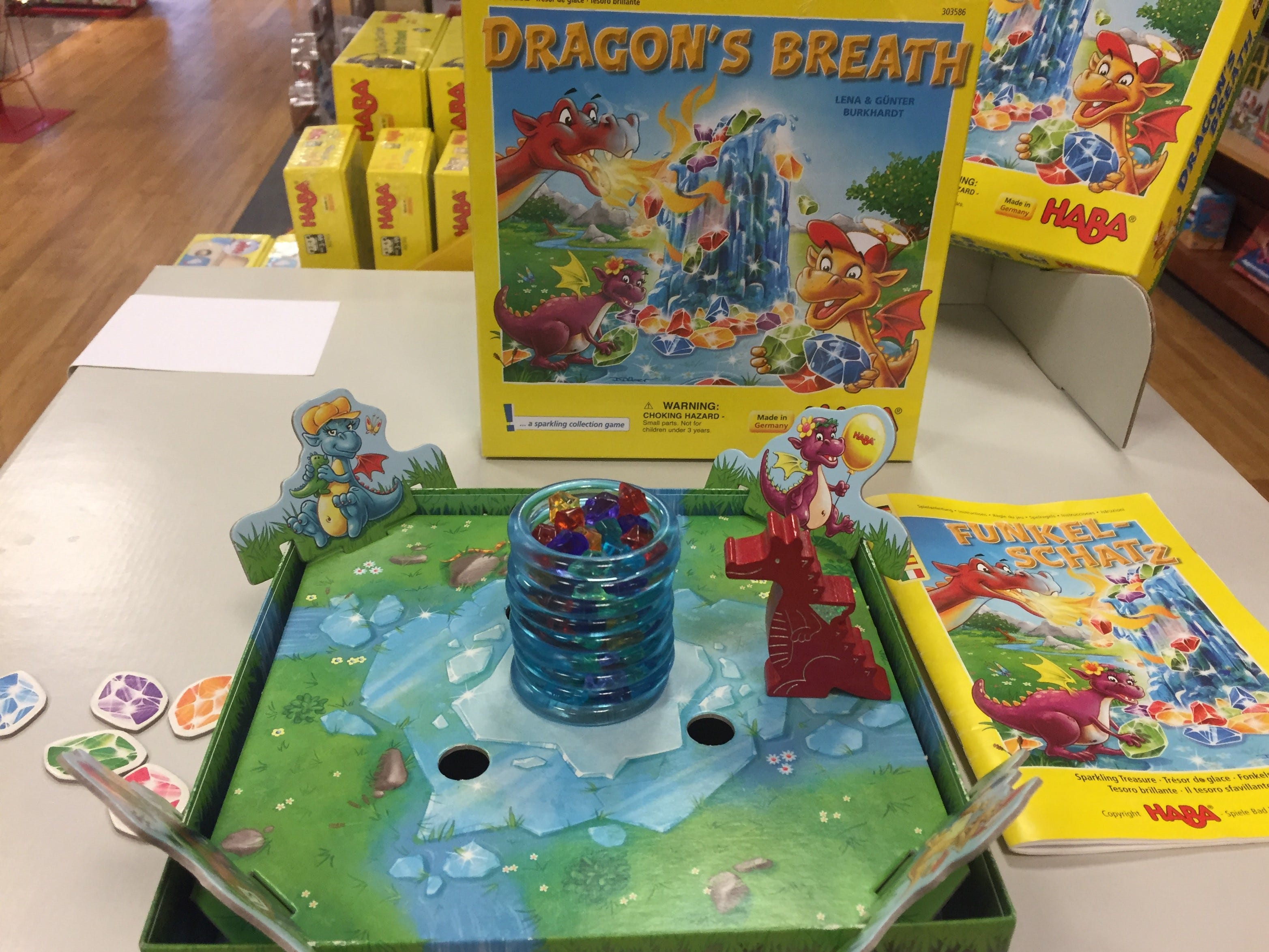 Dragon's Breath is another game sold at Board Game Barrister that families can have fun with together.