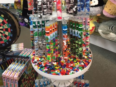Plus-Plus building toys have been selling well for toy stores lately, such as Allison Wonderland in Burlington and Lake Geneva.