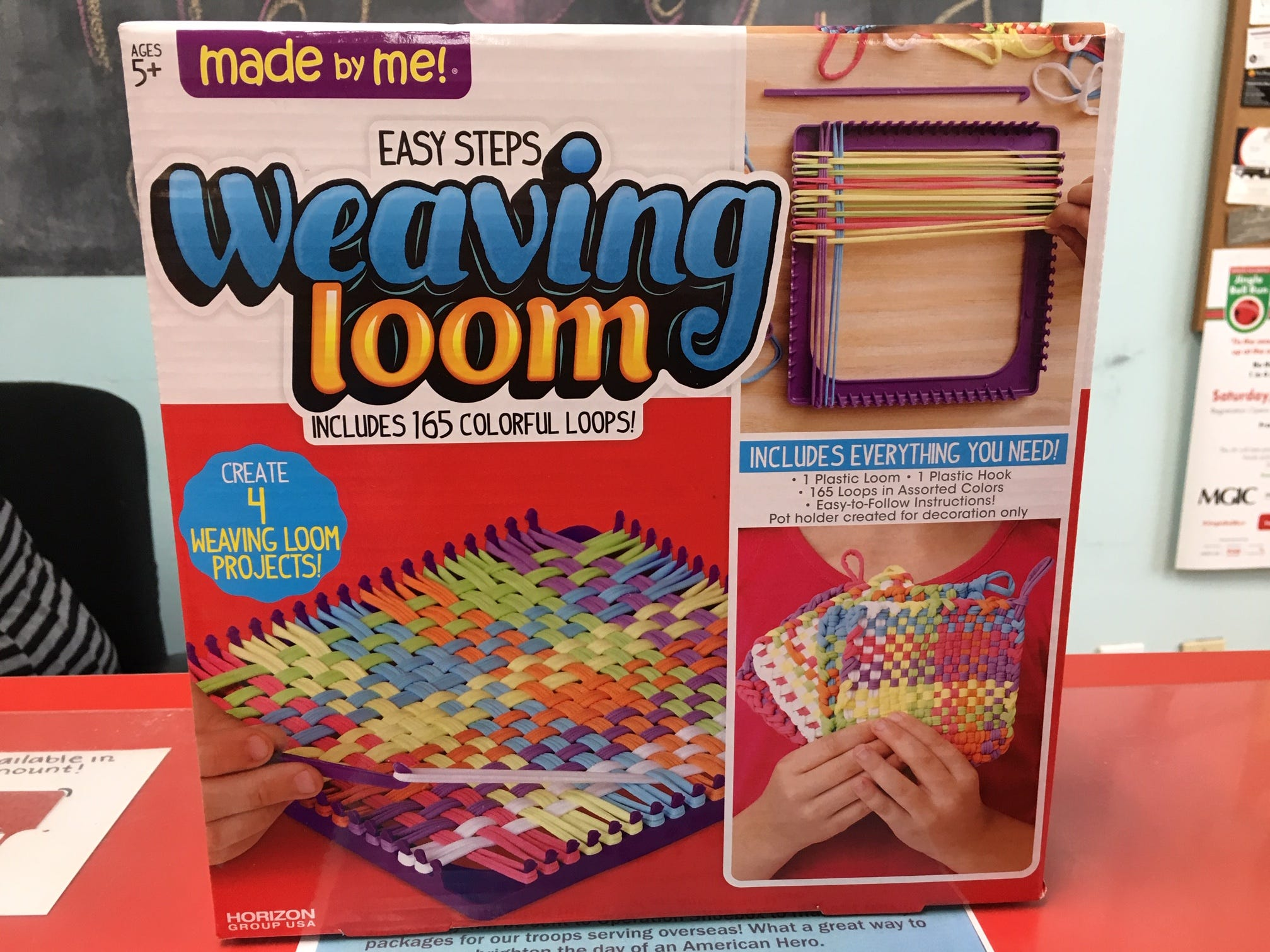 Kids can make potholders as gifts just as their parents and grandparents did. The nostalgic weaving loom is sold at Silly Willyz in Pewaukee.